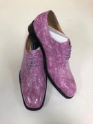 *ULTIMATE* Men's Fuchsia Pink Shiny Pointed Toe Croc Exotic Dress Shoe FREE SHIPPING - SZ 12
