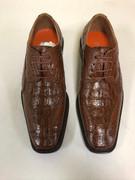 *ULTIMATE* Men's Croc Gator Exotic Cognac Tan Fancy Unique Dress Shoe FREE SHIPPING - SZ 9.5