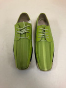 *ULTIMATE* Men's Lime Green Metal Tip Striped Dress Shoes FREE SHIPPING - SZ 9.5