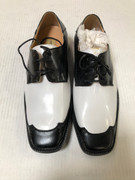 *ULTIMATE* Men's Black and White Two-Tone Wing Dress Shoes FREE SHIPPING - SZ 10