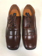 *ULTIMATE* Men's Round Toe Brown Smooth Classic Church Dress Shoe FREE SHIPPING - SZ 10.5