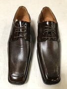 *ULTIMATE* Men's Brown Checkered Pointed Exotic Dress Shoe FREE SHIPPING - SZ 10.5