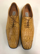 *ULTIMATE* Men's Hot Mustard Exotic Croc Print Toe Dress Shoes FREE SHIPPING - SZ 10