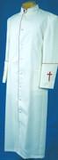Men's White/Red Clergy Robe