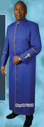 Men's Clergy Cassock - Royal Blue and Gold Embroidery *Final Clearance*