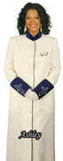 Ladies Clergy Cassock Candle/Royal - Final Clearance