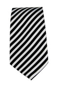 Men's Striped Necktie - Black/White