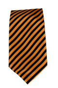 Men's Striped Necktie - Orange/Black