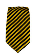 Men's Striped Necktie - Black/Gold