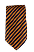 Men's Striped Necktie - Navy/Orange