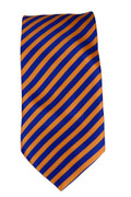Men's Striped Necktie - Orange/Royal