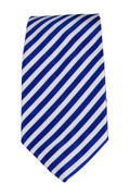 Men's Striped Necktie - White/Royal