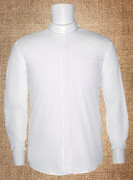Men's Neckband Long-Sleeve Shirt White