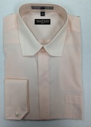 **Extreme Deal** Fashion Dress Shirt with Prime Collar AND French Cuffs - Peach