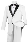 Men's Stylish Tuxedo White and Black