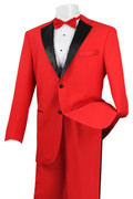 Men's Stylish Tuxedo Red and Black