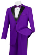 Men's Stylish Tuxedo Purple and Black