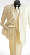 """ULTIMATE"" 54L ""Almost Solid"" Fashion Pattern 3 Pc. Suit White"