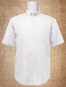 Tab Collar Men's Clergy Shirt White SS