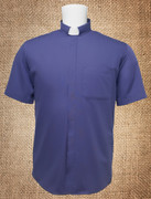 Tab Collar Men's Clergy Shirt Purple SS