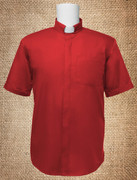 Tab Collar Men's Clergy Shirt Red SS