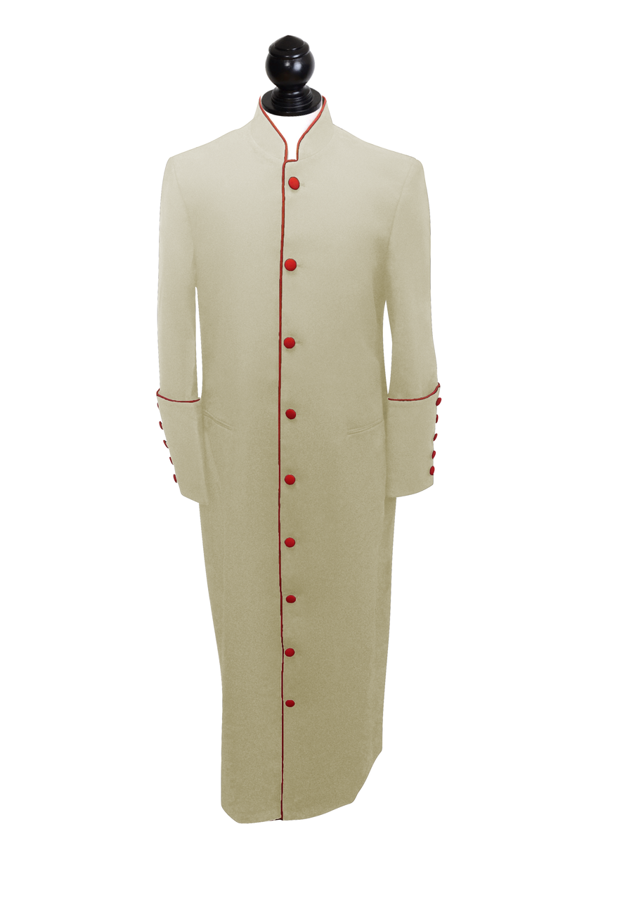 463333f5aaa Women s Clergy Robe Creme with Red Trim
