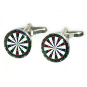 Circle Dart Board Look Cufflinks