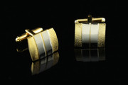 Classy Gold and Silver Quality Cufflinks