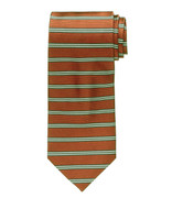 Jos. A. Bank Rust Orange Horizontal Stripe Necktie