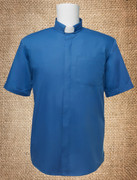 Tab Collar Men's Clergy Shirt Royal Blue SS