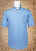 Tab Collar Men's Clergy Shirt Light Blue SS