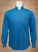 Tab Collar Men's Clergy Shirt Royal Blue LS