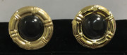 Bronze Round Circle Stone Cufflinks in Elegance Black