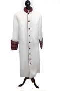 Men's Clergy Cassock - White & Special Red Brocade