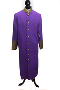 Ladies Clergy Cassock - Purple & Special Gold Brocade