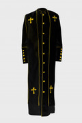 Men's Clergy Robe - Black and Gold Outline