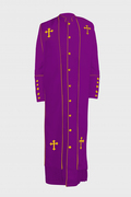 Men's Clergy Robe - Purple & Gold