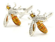 Honeybee Cufflinks with Stones