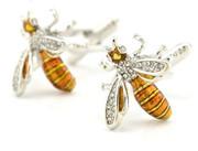 Honeybee Cufflinks with Stones