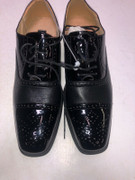 *ULTIMATE* Men's Black Solid Wing Tip Dress Shoes Tuxedo Formal FREE SHIPPING - SZ 10