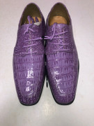 *ULTIMATE* Men's Lilac Shiny Dress Shoes Gator Formal Purple FREE SHIPPING - SZ 9.5