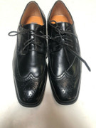 *ULTIMATE* Men's Black Solid WingTip Dress Shoes Tuxedo Formal FREE SHIPPING - SZ 10