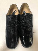 *ULTIMATE* Men's Black Shiny Round Toe Dress Shoes FREE SHIPPING - SZ 10.5