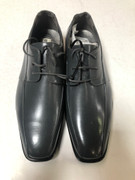 *ULTIMATE* Men's Gray Charcoal Smooth Pointed Toe Dress Shoes FREE SHIPPING - SZ 10