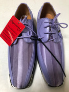 *ULTIMATE* Men's Lavender Lilac Metal Tip Striped Dress Shoes FREE SHIPPING - SZ 11