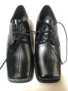*ULTIMATE* Men's Black Square Toe Lined Quality Dress Shoes FREE SHIPPING - SZ 11