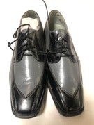 *ULTIMATE* Men's Two-Tone Black/Gray Wingtip Dress Shoes FREE SHIPPING - SZ 10