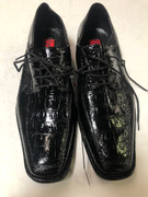 *ULTIMATE* Men's Black Shiny Croc Exotic Tuxedo Formal Dress Shoes FREE SHIPPING - SZ 10.5
