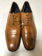 *ULTIMATE* Men's Cognac Wingtip Professional Classy Dress Shoes FREE SHIPPING - SZ 9