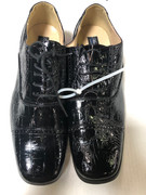 *ULTIMATE* Men's Black Shiny Fancy Round Toe Print Dress Shoes FREE SHIPPING - SZ 10.5